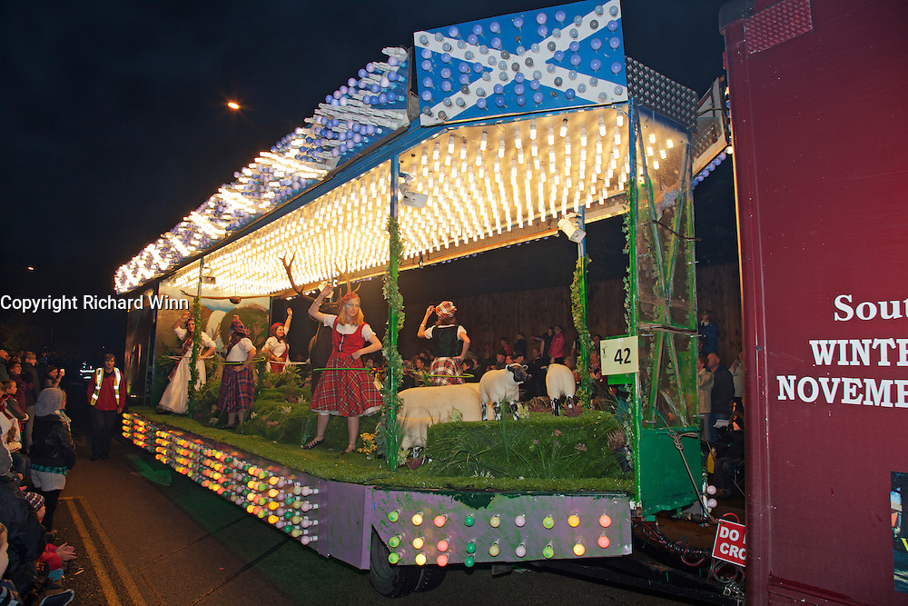 The 2011 entry Monarch of the Glen from South Brent Carnival Club. Bridgwater Carnival is an annual event to raise money for local charities. It is widely reputed to be the largest illuminated carnival in the world.