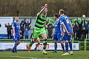 Forest Green Rovers Mark Ellis(5) scores a goal 3-0 and celebrates during the Vanarama National League match between Forest Green Rovers and Macclesfield Town at the New Lawn, Forest Green, United Kingdom on 4 March 2017. Photo by Shane Healey.