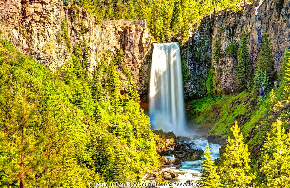 Tumalo Falls in Full Flow in Oregon