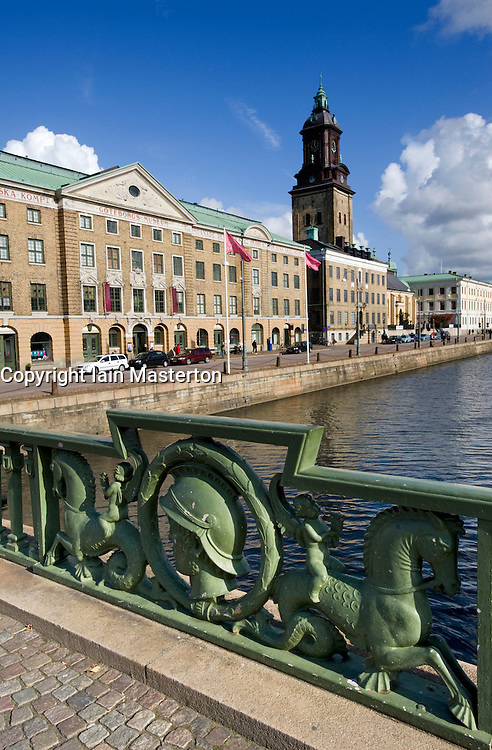 View across canal to Gothenburg Museum in Sweden