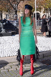 Anna Dello Russo attending the Miu Miu Fashion Show as part of Paris Fashion Week Spring Summer 2018 in Paris, France, on October 03, 2017. Photo by Aurore Marechal/ABACAPRESS.COM