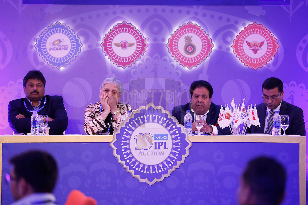 Officials during the Vivo IPL 2017 Player Auction held at the Carlton-Ritz hotel in Bangalore on the 20th February  2017<br /> <br /> Photo by Deepak Malik / IPL / SPORTZPICS