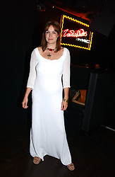 Actress LUCY BROWN at a party to celebrate Zandra Rhodes's return to London Fashion week and the launch of a limited edition of M.A.C makeup at Silver, 17 Hanover Square, London W1 on 20th September 2006.<br />