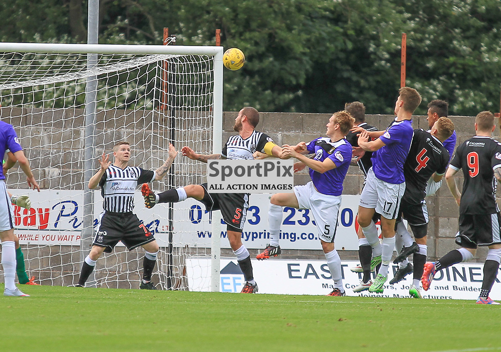 East Fife V Elgin Scottish League Two 22 August 2015; East Fife's Jonathan Page puts East Fife 1-0 up during the East Fife V Elgin Scottish League Two match played at Bayview Stadium, Methill.