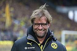 15.03.2014, Signal Iduna Park, Dortmund, GER, 1. FBL, Borussia Dortmund vs Borussia Moenchengladbach, 25. Runde, im Bild Trainer Juergen Klopp (Borussia Dortmund) gut gelaunt am Lachen, Emotion, Freude, Glueck // during the German Bundesliga 25th round match between Borussia Dortmund and Borussia Moenchengladbach at the Signal Iduna Park in Dortmund, Germany on 2014/03/15. EXPA Pictures © 2014, PhotoCredit: EXPA/ Eibner-Pressefoto/ Schueler<br /> <br /> *****ATTENTION - OUT of GER*****