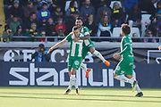 GOTHENBURG, SWEDEN - APRIL 22: Nikola Djurdjic of Hammarby celebrates after scoring to 1-2 during the Allsvenskan match between BK Hacken and Hammarby IF at Bravida Arena on April 22, 2018 in Gothenburg, Sweden. Photo by Nils Petter Nilsson/Ombrello ***BETALBILD***