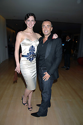 Actress MARGO STILLEY and fashion designer JULIEN MACDONALD at a party to celebrate the launch of the Suka restaurant at the Sanderson Hotel, berners Street, London on 15th March 2007.<br /><br />NON EXCLUSIVE - WORLD RIGHTS