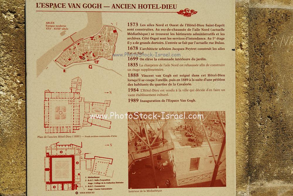 Espace Van Gogh Hotel Dieu. Arles, Provence, France