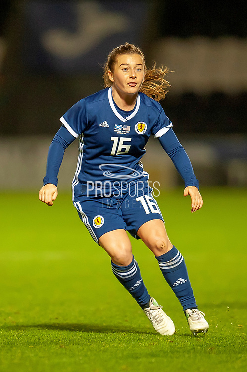 Christie Murray (#16) (Liverpool) of Scotland during the Women's International Friendly match between Scotland Women and USA at the Simple Digital Arena, Paisley, Scotland on 13 November 2018.