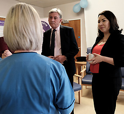 """Scottish Labour leader Richard Leonard and Health spokesperson Monica Lennon met with midwives in NHS Lanarkshire, ahead of a Scottish Labour debate which calls on the SNP Government to invest an additional £10 million for the implementation of Best Start and to investigate claims that midwives are not being given sufficient resources to do their jobs.<br /> <br /> Scottish Labour will use parliamentary time this week to call on the SNP Government to investigate reports that midwives do not have enough resources to do their jobs safely.<br /> <br /> Concerns have been raised in an open letter by midwives in NHS Lothian, which claim they do not have enough computers, equipment and pool cars.<br /> <br /> Scottish Labour have also called for an additional £10 million to be allocated towards the implementation of the Best Start recommendations, to ensure that midwives are given adequate time, training and resources.<br /> <br /> Scottish Labour Health Spokesperson Monica Lennon said:<br /> <br /> """"Midwives play a crucial role in caring for women and babies. The best way of recognising their contribution to our NHS is by making sure they have enough resources to do their jobs safely.<br /> <br /> """"That's why Scottish Labour is calling on the SNP Government to investigate reports about a lack of equipment and resources, and to provide an additional £10 million towards the implementation of the Best Start recommendations.<br /> <br /> """"The Health Secretary must listen to the concerns of midwives and take urgent action to address the workforce crisis.""""<br /> <br /> Pictured: Richard Leonard and Monica Lennon chat to midwives<br /> <br /> Alex Todd 