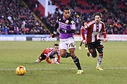 Louis Thompson during the Sky Bet League 1 match between Sheffield Utd and Swindon Town at Bramall Lane, Sheffield, England on 31 January 2015. Photo by David Charbit.