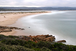 """South Africa - Plettenberg Bay - 6 June 2020 - A photo editing technique using average image stacking combines multiple images into one image to simulate one long exposure. Pictured is Lookout Beach as seen from the Whale Tale view site. According to SA-Venues """"Lookout Beach is one of the most popular spots in Plettenberg Bay for the seemingly-endless stretches of white sandy beaches and warm Indian Ocean waters. Lookout Beach enjoys a spectacular setting, with views of the Keurbooms River and the mountains of the Garden Route in the distance."""" Picture: David Ritchie/African News Agency(ANA)"""