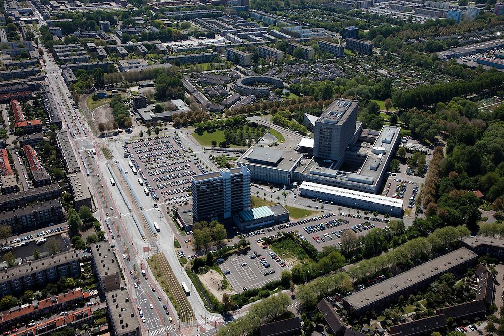 Nederland, Zuid-Holland, Den Haag, 12-05-2009; Ziekenhuis Leyenburg (onderdeel Haga ziekenhuizen) in de wijk Leyenburg, stadsdeel Escamp. Swart collectie, luchtfoto (toeslag); Swart Collection, aerial photo (additional fee required).foto Siebe Swart / photo Siebe Swart