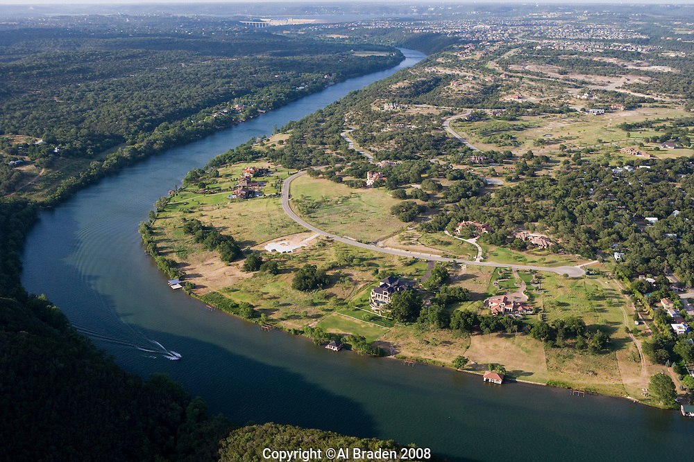 Lake Austin Aerial, West of Austin, TX