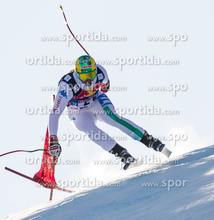 26.01.2013, Streif, Kitzbuehel, AUT, FIS Weltcup Ski Alpin, Abfahrt, Herren, im Bild  Dominik Paris (ITA) // Dominik Paris of Italy in action during mens Downhill of the FIS Ski Alpine World Cup at the Streif course, Kitzbuehel, Austria on 2013/01/26. EXPA Pictures © 2013, PhotoCredit: EXPA/ Juergen Feichter