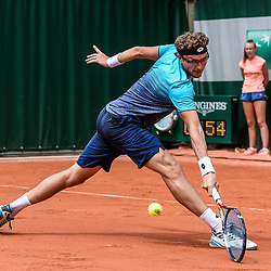 Denis Istomin during Day 2 of Roland Garros, the French Open 2018 on May 28, 2018 in Paris, France. (Photo by Baptiste Fernandez/Icon Sport)