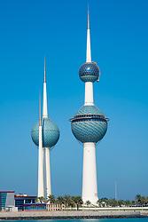 View of Kuwait Towers in Kuwait City, Kuwait