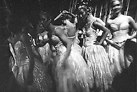 Corps de Ballet dancers of The Royal Ballet backstage before Act II Swan Lake, Moscow 2003.