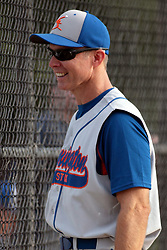 27 June 2014:  Bob Ginger during a Mens Professional Fastpitch Softball game between the Central Illinois Knights from Villa Grove and the Bloomington Stix from Bloomington, played at O'Neil Park in Bloomington, Illinois