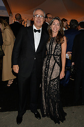 JOHN ZAMMETT and MELISSA STISTED at the Chovgan Twilight Polo Gala in association with the PNN Group held at Ham Polo Club, Petersham Close, Richmond, Surrey on 10th September 2014.