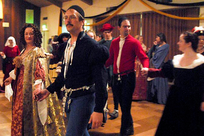 The Shire of Crosston in the SCA hosted their annual Crosston Dance Ball. The SCA is a re-enactment group that recreates life in the Middle Ages.