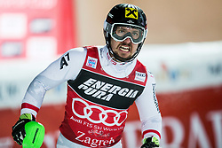 "Marcel Hirscher (AUT) reacts during the 2nd Run of FIS Alpine Ski World Cup 2017/18 Men's Slalom race named ""Snow Queen Trophy 2018"", on January 4, 2018 in Course Crveni Spust at Sljeme hill, Zagreb, Croatia. Photo by Vid Ponikvar / Sportida"