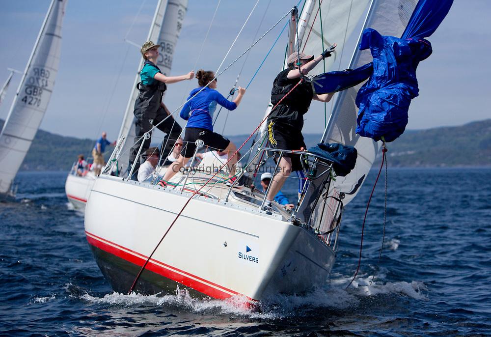 Silvers Marine Scottish Series 2017<br /> Tarbert Loch Fyne - Sailing<br /> <br /> IRL16010, Busy Beaver, M Bradshaw,J Gallagher, Cove Sailing Club, Sigma 33 OOD<br /> <br /> Credit Marc Turner / PFM