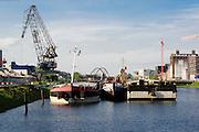 Hafen Verbindungskanal, Mannheim, Baden-Württemberg, Deutschland | port, Mannheim, Baden-Wurttemberg, Germany