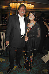 DR AVTAR LIT and his wife ANITA at the Eastern Eye Asian Business Awards 2007 in the presence of HRH The Duke of York at the Hilton Park Lane, London on 8th May 2007.<br />