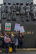 In front of the Women of World War II memorial - On the anniversary of the Women's March on London, they stage another rally to say 'Time's Up and to renew the struggle for equality and justice'. Starting at Richmond Terrace, opposite Downing Street.