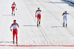 NITTA Yoshihiro JPN LW8, ARENDZ Mark CAN LW6, TUOMISTO Ilkka FIN LW8, SKUPIEN Witold POL LW5/7 competing in the ParaSkiDeFond, Para Nordic Skiing, Sprint at  the PyeongChang2018 Winter Paralympic Games, South Korea.