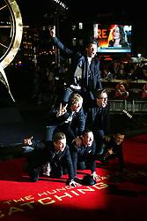 James Bourne; Matt Willis; Tom Fletcher; Danny Jones; Dougie Poynter; Harry Judd, The Hunger Games: Catching Fire - World film premiere, Leicester Square, London UK, 11 November 2013, Photo by Richard Goldschmidt © Licensed to London News Pictures. Photo credit : Richard Goldschmidt/Piqtured/LNP