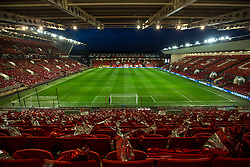 A general view of Ashton Gate, ahead of the second leg of the Carabao Cup Semi Final between Bristol City v Manchester City as flags are laid out on the seats - Mandatory by-line: Robbie Stephenson/JMP - 23/01/2018 - FOOTBALL - Ashton Gate Stadium - Bristol, England - Bristol City v Manchester City - Carabao Cup Semi Final second leg
