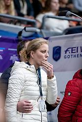 ARNS-KROGMANN Christine (Pferdebeitzer)<br /> Göteborg - Gothenburg Horse Show 2019 <br /> FEI Dressage World Cup™ Final II<br /> Grand Prix Freestyle/Kür<br /> Longines FEI Jumping World Cup™ Final and FEI Dressage World Cup™ Final<br /> 06. April 2019<br /> © www.sportfotos-lafrentz.de/Stefan Lafrentz