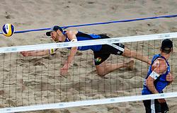 06-01-2019 NED: Dela Beach Open, Den Haag<br /> Netherlands lost the bronze medal from Russia 1-2 /  Alexander Brouwer #1