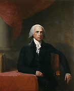 James Madison (1751-1936)  American politician and political philosopher, Fourth President of the United States 1809-1817. Portrait by Gilbert Stuart (1754-1828), 1805-1807.