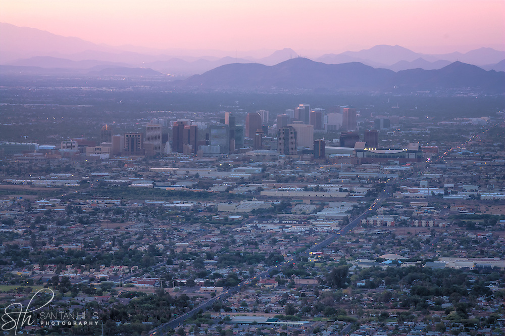 Phoenix view from South Mountain - AZ