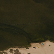Aerial images around the Wrightsville Beach NC, area, including marshes, islands and waterways