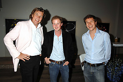 Left to right, THEO FENNELL, GUY PELLY and DAVE CLARK at a party to celebrate the launch of the Boodles Wonderland jewellery collection held at the Haymarket Hotel, 1 Suffolk Place, London on 9th June 2008.<br /><br />NON EXCLUSIVE - WORLD RIGHTS