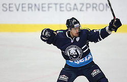 03.10.2014, Dom Sportova, Zagreb, CRO, KHL League, Medvescak vs Dinamo Riga, 13. Runde, im Bild Nathan Perkovich // during the Kontinental Hockey League 13th round match between Medvescak and Dinamo Riga at the Dom Sportova in Zagreb, Croatia on 2014/10/03. EXPA Pictures © 2014, PhotoCredit: EXPA/ Pixsell/ Igor Kralj<br /> <br /> *****ATTENTION - for AUT, SLO, SUI, SWE, ITA, FRA only*****