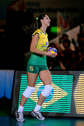 23-08-2009 VOLLEYBAL: WGP FINALS JAPAN - BRAZILIE: TOKYO <br /> Brazilie wint met 3-1 van Japan en zijn de winnaar van de Grand Prix 2009 / Caroline Gattaz<br /> ©2009-WWW.FOTOHOOGENDOORN.NL