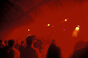 Clubbers bathed in red light, Clubbing