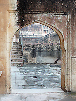 Archway between courtyards in the Amber Palace, Amer, Rajasthan