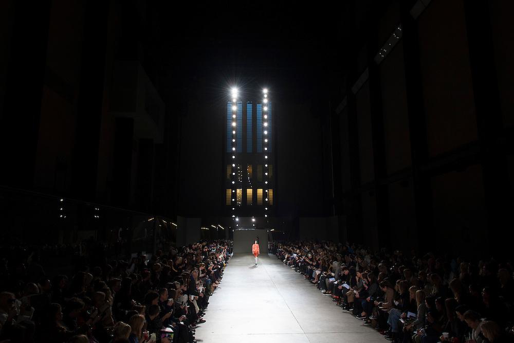 &copy; Copyright by Stefan Reimschuessel. <br /> All Rights Reserved.<br /> stefan@reimsphotography.com<br /> http://reimsphotography.com/<br /> 17 February 2014<br /> Michael van der Ham show at LFW London Fashion Week. Tate Modern.