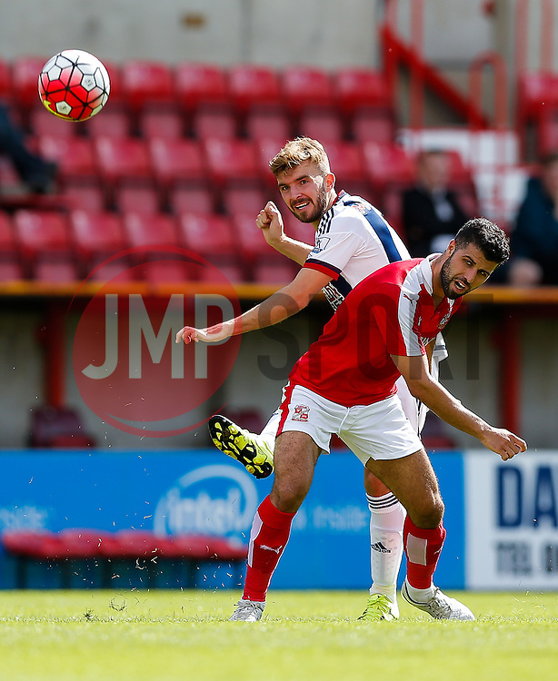 James Morrison of West Brom crosses - Mandatory byline: Rogan Thomson/JMP - 07966 386802 - 25/07/2015 - SPORT - Football - Swindon, England - The County Ground - Swindon Town v West Bromwich Albion - 2015/16 Pre Season Friendly.