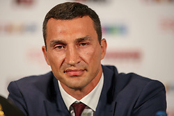 21.07.2015, Esprit Arena, Düsseldorf, GER, WBA Boxkampf, Wladimir Klitschko vs Tyson Fury, im Bild Wladimir Klitschko // during a pressconference of the WBA fight between Wladimir Klitschko and Tyson Fury at the Esprit Arena in Düsseldorf, Germany on 2015/07/21. EXPA Pictures © 2015, PhotoCredit: EXPA/ Eibner-Pressefoto/ Schüler<br /> <br /> *****ATTENTION - OUT of GER*****