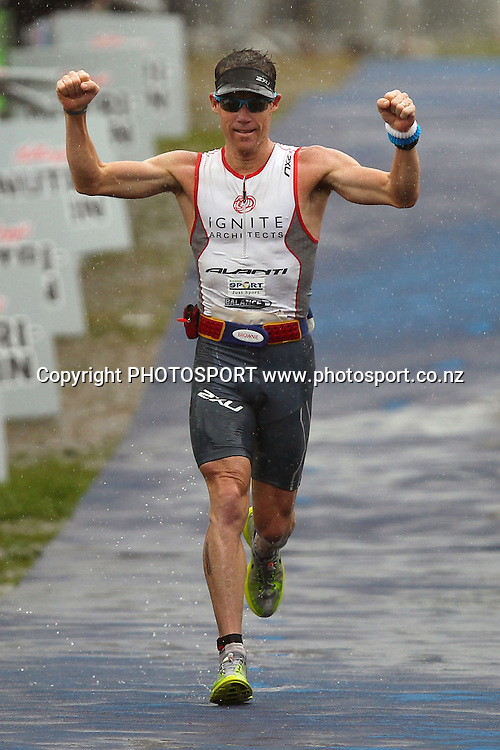 Cameron Brown wins his 10th Taupo Ironman. Taupo Ironman, Taupo, New Zealand. Saturday 4th March 2011. Photo: Anthony Au-Yeung / photosport.co.nz