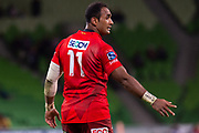 MELBOURNE, AUSTRALIA - APRIL 06: Semisi Masirewa of the Sunwolves gestures to teammates at round 8 of The Super Rugby match between Melbourne Rebels and Sunwolves on April 06, 2019 at AAMI Park in VIC, Australia. (Photo by Speed Media/Icon Sportswire)