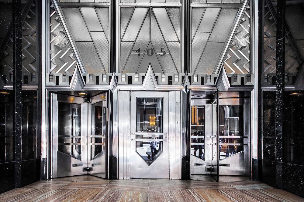 High Deco -- the Lexington Avenue entrance to the Chrysler Building