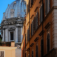 One of the many many church domes in the eternal City of Rome.